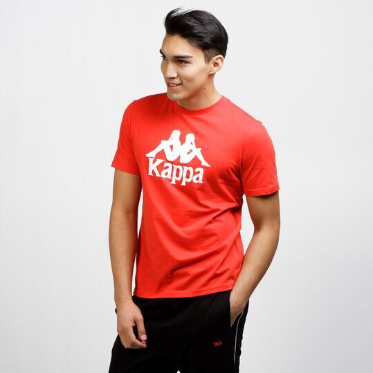 KAPPA Camiseta Manga Corta Rojo Hombre