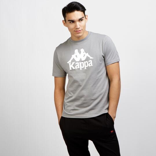 KAPPA Camiseta Manga Corta Gris Blanco Hombre