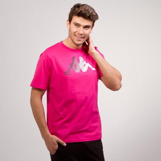KAPPA LOGE Camiseta Fucsia Hombre