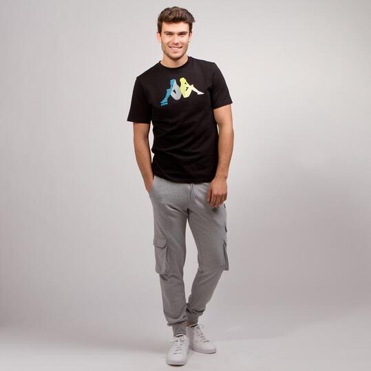 KAPPA LOGE Camiseta Negro Hombre