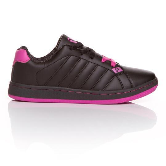 Zapatillas Casual UP Negro Fucsia Mujer