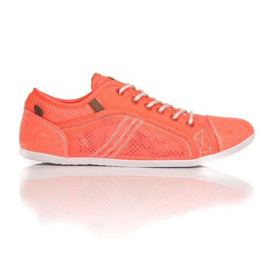 Sneakers Lona SILVER Naranja Mujer