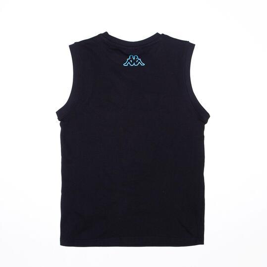 KAPPA Camiseta Sin Mangas Negra Niño (8-14)