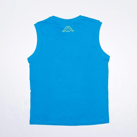 KAPPA Camiseta Sin Mangas Turquesa Niño (8-14)
