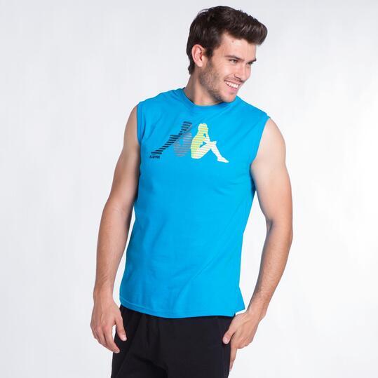 KAPPA Camiseta Sin Mangas Turquesa Hombre