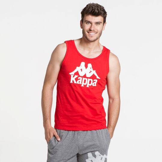 KAPPA Camiseta Sin Mangas Rojo Hombre