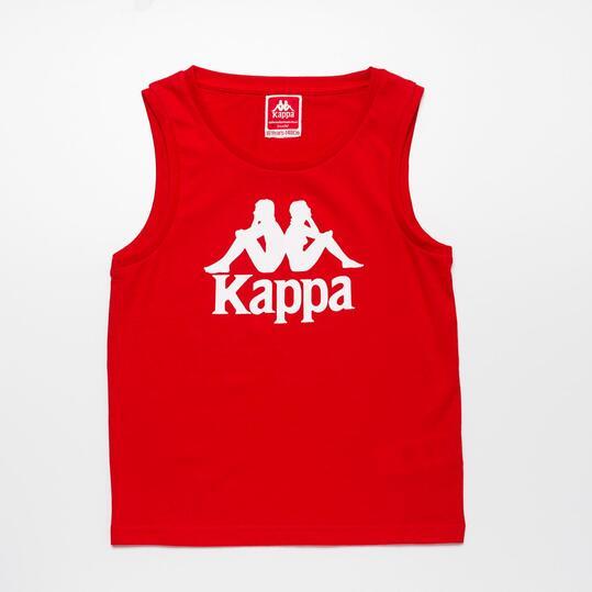 KAPPA Camiseta Tirante Ancho Rojo Niño (8-14)