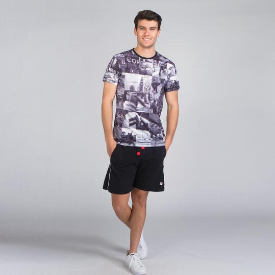 Camiseta Manga Corta TRUNK & ROOTS Estampada Hombre