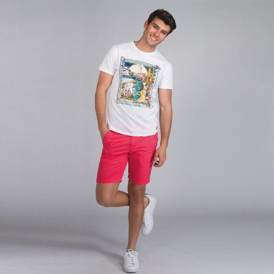 Camiseta Manga Corta TRUNK & ROOTS Blanco Hombre