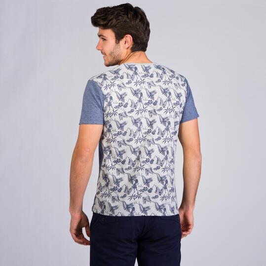 Camiseta Manga Corta TRUNK & ROOTS Denim Hombre