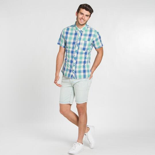 Camisa Cuadros TRUNK&ROOTS Azul Hombre