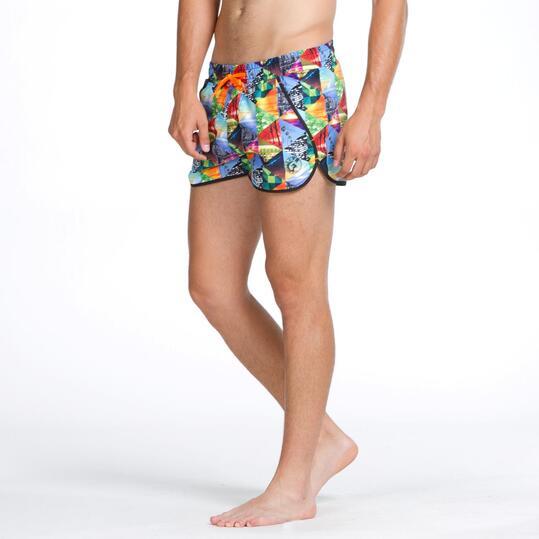 Bañador Corto Curvo SILVER Multicolor