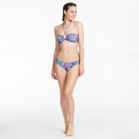 Bikini Bandeau SILVER Multicolor Mujer