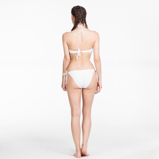 Bikini Crochet SILVER Blanco Mujer