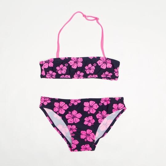 Bikini Bandeau SILVER Flores Niña (2-8)