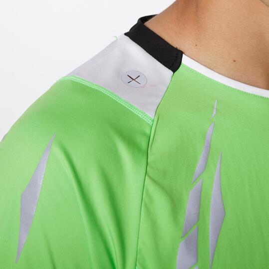Camiseta Running IPSO REFLECTIVE Verde Hombre