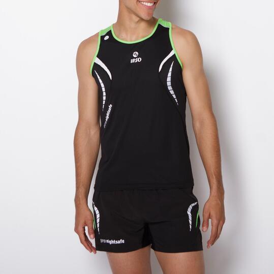 Camiseta Tirantes Running IPSO REFLECTIVE Negro Hombre
