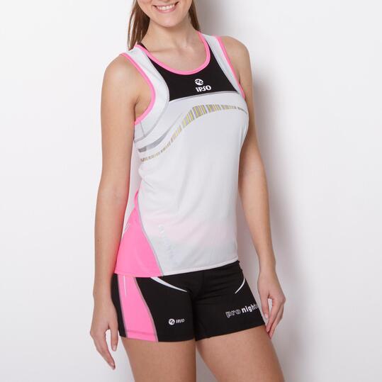 Camiseta Tirantes Running IPSO REFLECTIVE Blanca Mujer