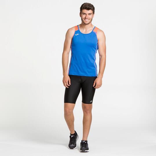 JOMA Camiseta Running Sin Mangas Azul Hombre