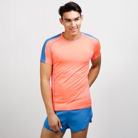 JOMA Camiseta Running Coral Hombre