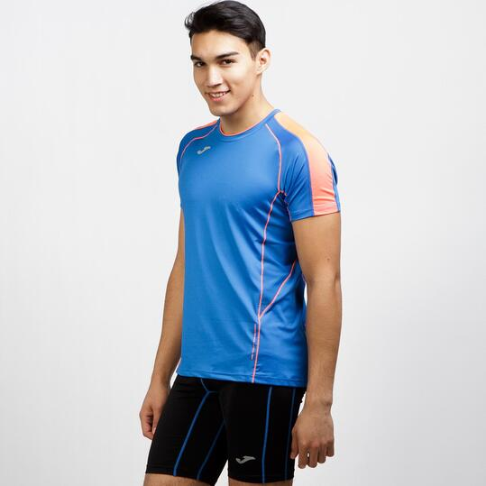 JOMA Camiseta Running Azul Hombre