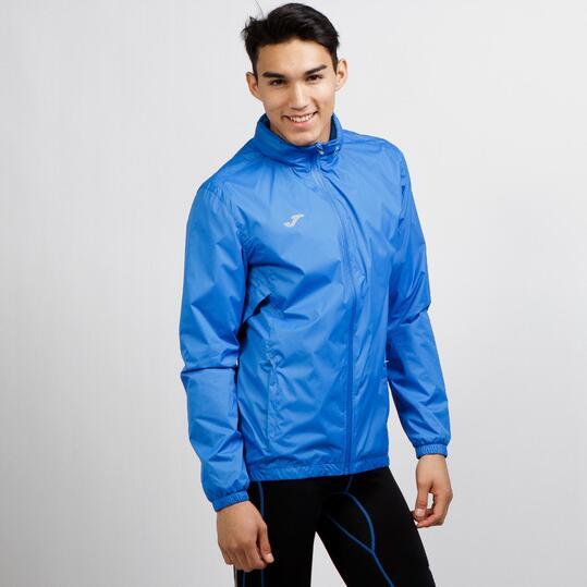 JOMA Cortavientos Capucha Running Azul Hombre