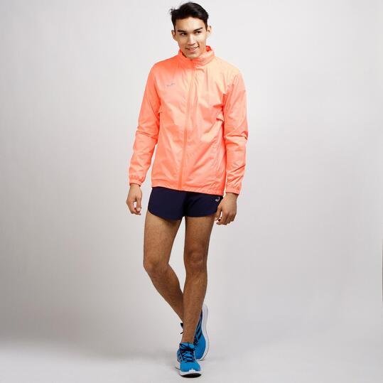 JOMA Cortavientos Capucha Running Coral Hombre