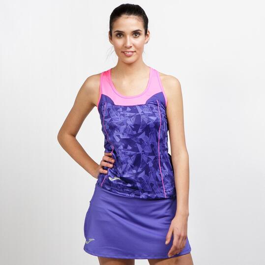 JOMA Camiseta Running Azul Mujer