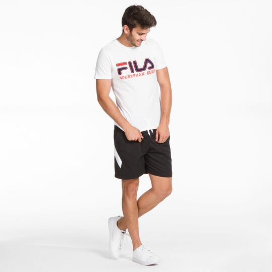 FILA BASIC Camiseta Blanca Hombre