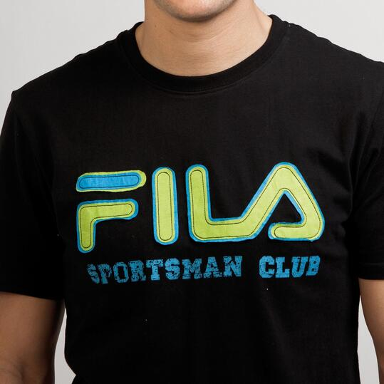 FILA BASIC Camiseta Negra Hombre