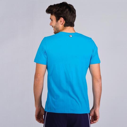 FILA BASIC Camiseta Manga Corta Azul Cyan Hombre