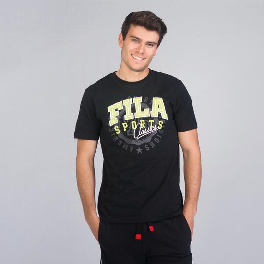 FILA BASIC Camiseta Manga Corta Negro Hombre