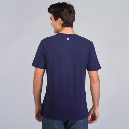 FILA BASIC Camiseta Manga Corta Marino Hombre