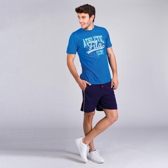 FILA BASIC Camiseta Manga Corta Azul Hombre