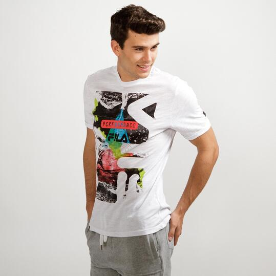 FILA WAVE Camiseta Blanca Hombre