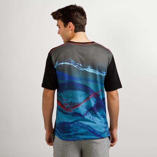 FILA WAVE Camiseta Negra Hombre