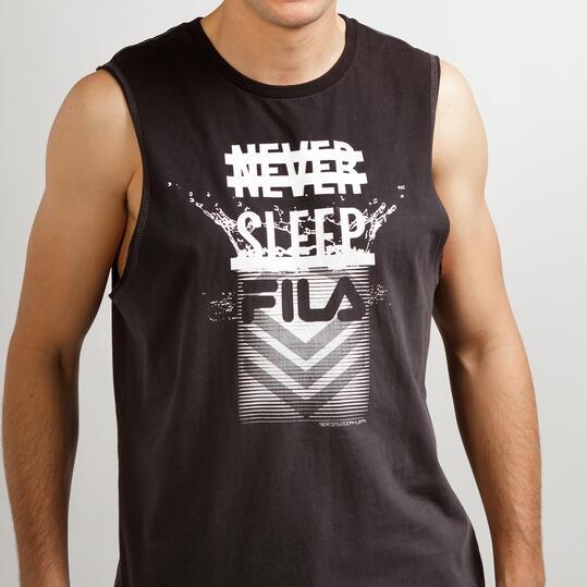 FILA WAVE Camiseta Negra Gris Hombre