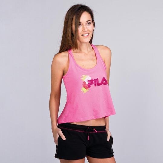 FILA BASIC Camiseta Nadadora Rosa Mujer