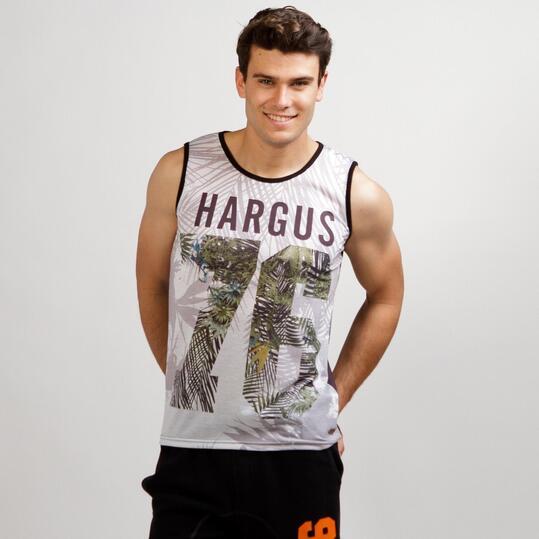 Camiseta Tirantes HARGUS TROPIC Blanco Hombre