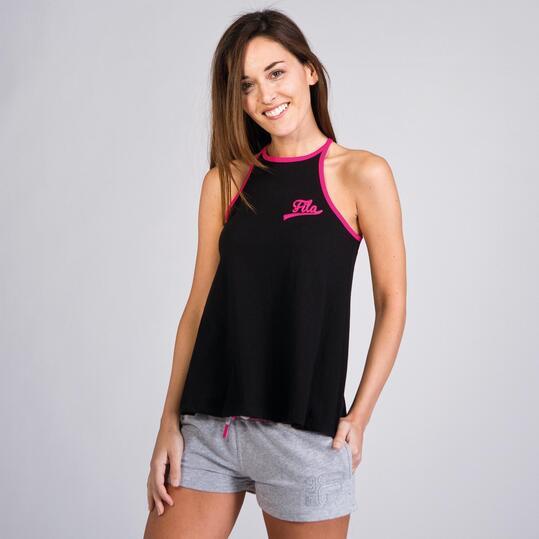FILA BASIC Camiseta Tirantes Nadadora Negra Mujer