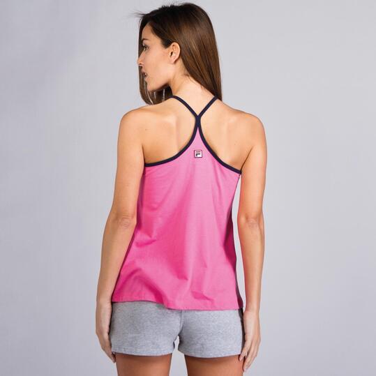 FILA BASIC Camiseta Tirantes Nadadora Rosa Mujer
