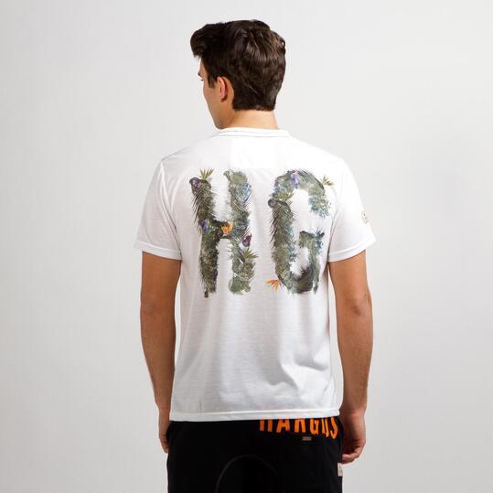 Camiseta Manga Corta HARGUS TROPIC Blanco Hombre