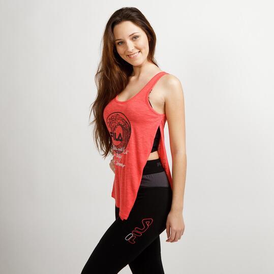 FILA WAVE Camiseta Tirantes Naranja Mujer