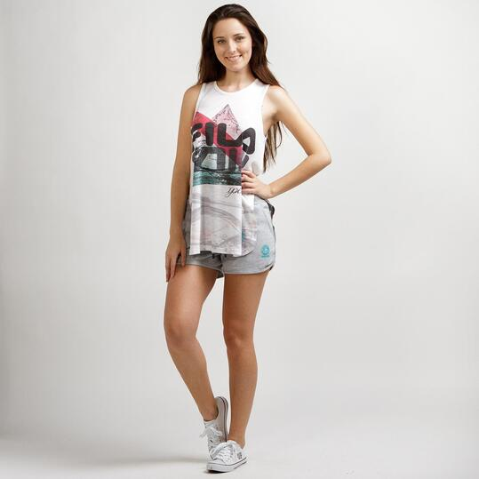 FILA WAVE Camiseta Sin Mangas Blanca Mujer