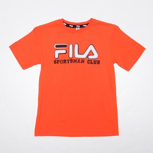 FILA BASIC Camiseta Manga Corta Rojo Niño (10-16)