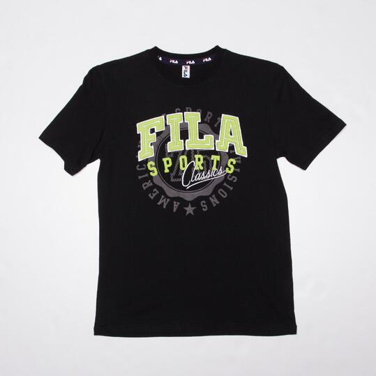 FILA BASIC Camiseta Manga Corta Negro Niño (10-16)