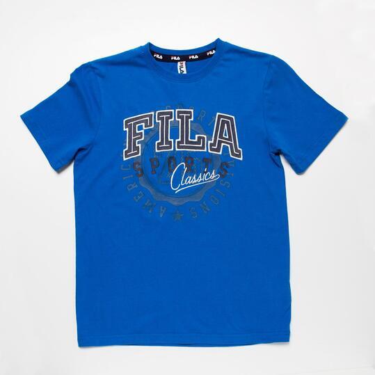 FILA BASIC Camiseta Manga Corta Azul Niño (10-16)