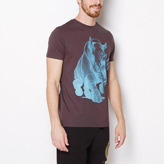 ECKO BIG RHINO Camiseta Gris Oscuro Hombre