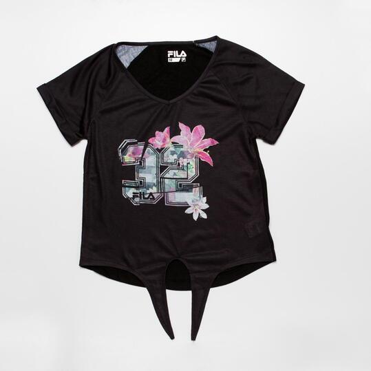 FILA GARDEN Camiseta Negra Niña (10-16)