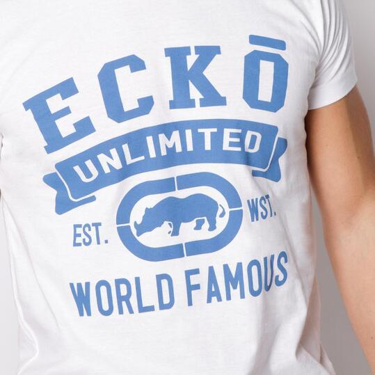 ECKO DEVIN Camiseta Manga Corta Blanco Hombre